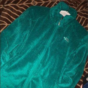 Women's Aqua Blue NorthFace Plush Jacket